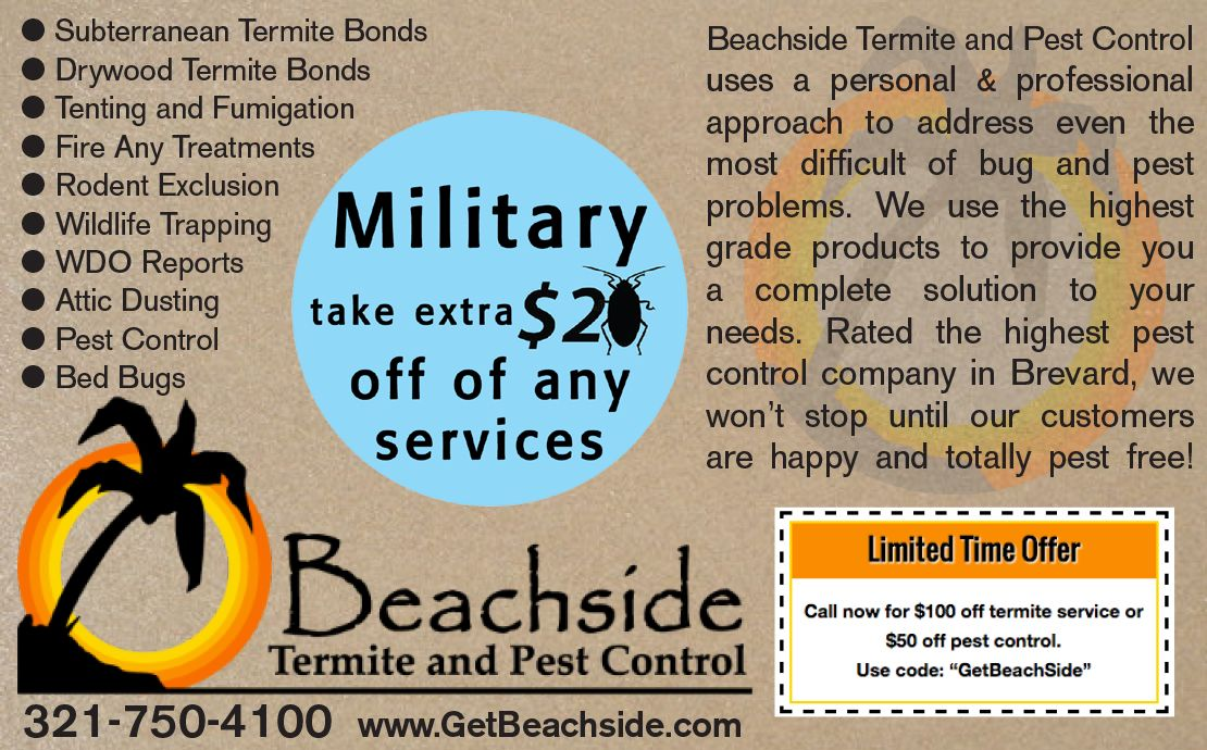 Beachside Termite and Pest Control  |  Military Discount Network