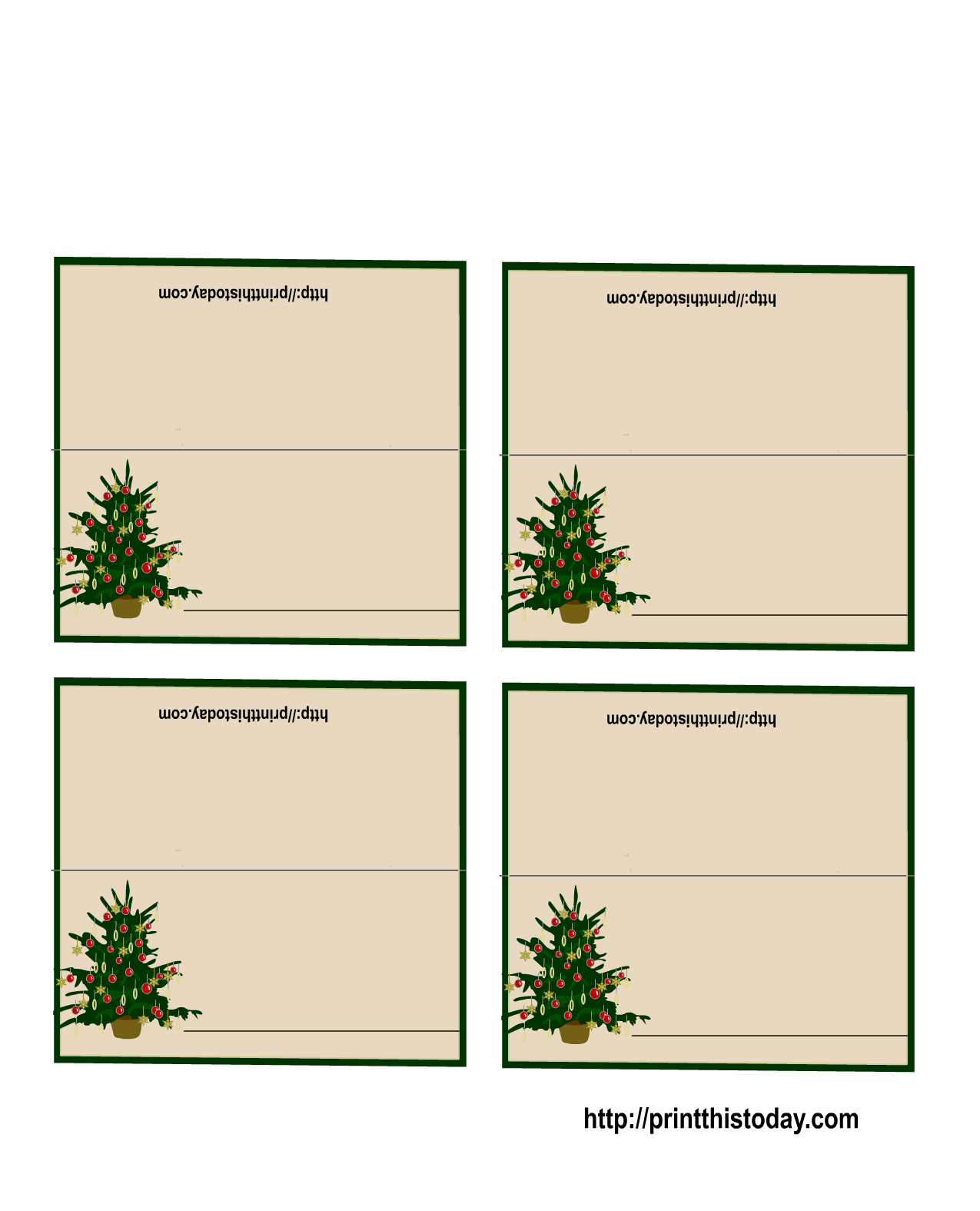 image regarding Free Printable Name Cards named Absolutely free Printable Xmas Tree Destination Playing cards *+* Free of charge Trip