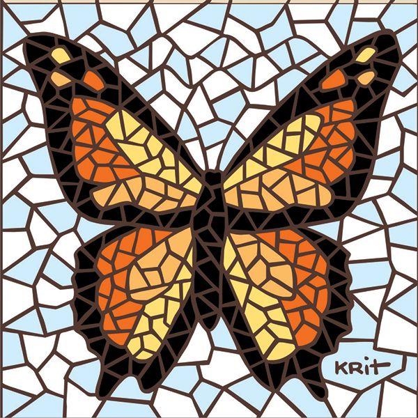 Afbeeldingsresultaat voor butterfly mosaic designs