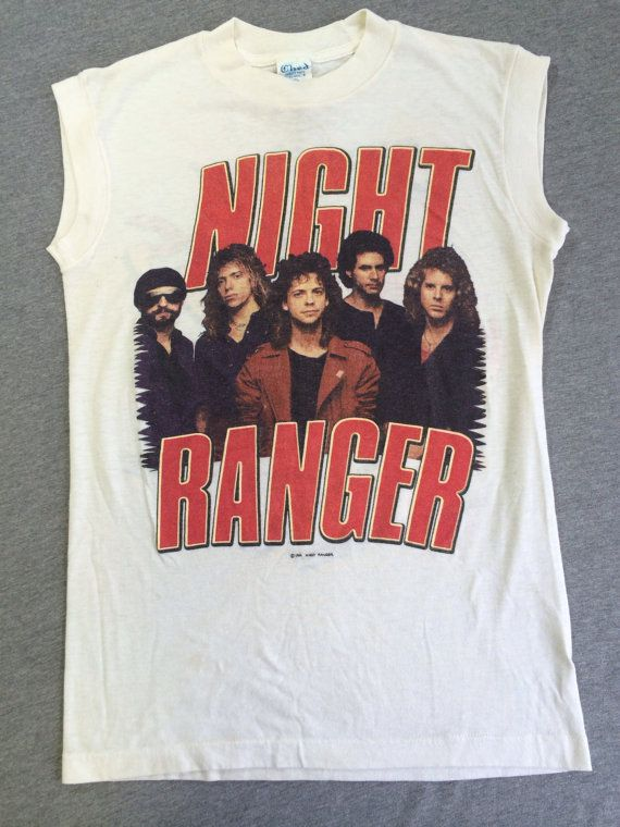 night ranger sleeveless tshirt 80 39 s vintage by sweetvtgtshirt rock and roll rangers. Black Bedroom Furniture Sets. Home Design Ideas