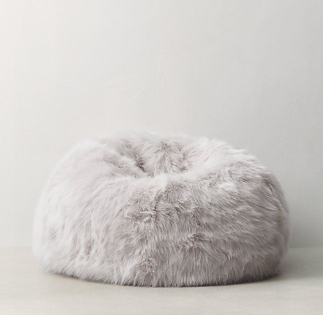 Restoration Hardware Teen Kashmir Faux Fur Bean Bag