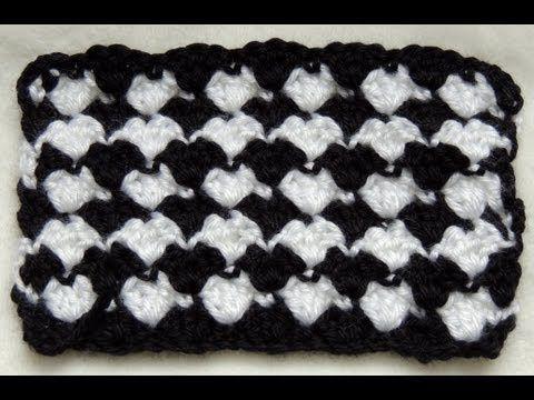 Crochet   Punto Fantasia en Blanco y Negro   2 - YouTube ... dad1433b07eb