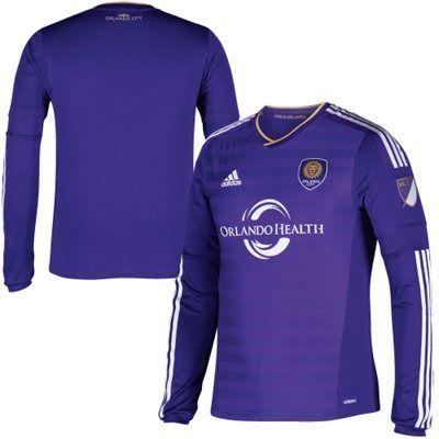 7b51813c70f5 Orlando City SC adidas Authentic Home Long Sleeve Jersey - Purple ...