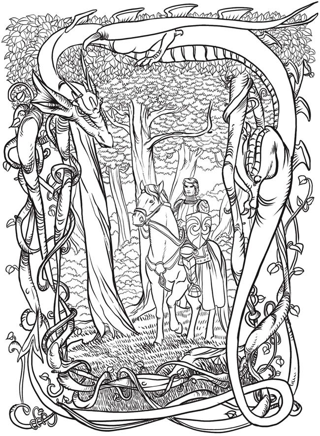 Welcome To Dover Publications From Creative Haven Fantastical Dragons Coloring Book