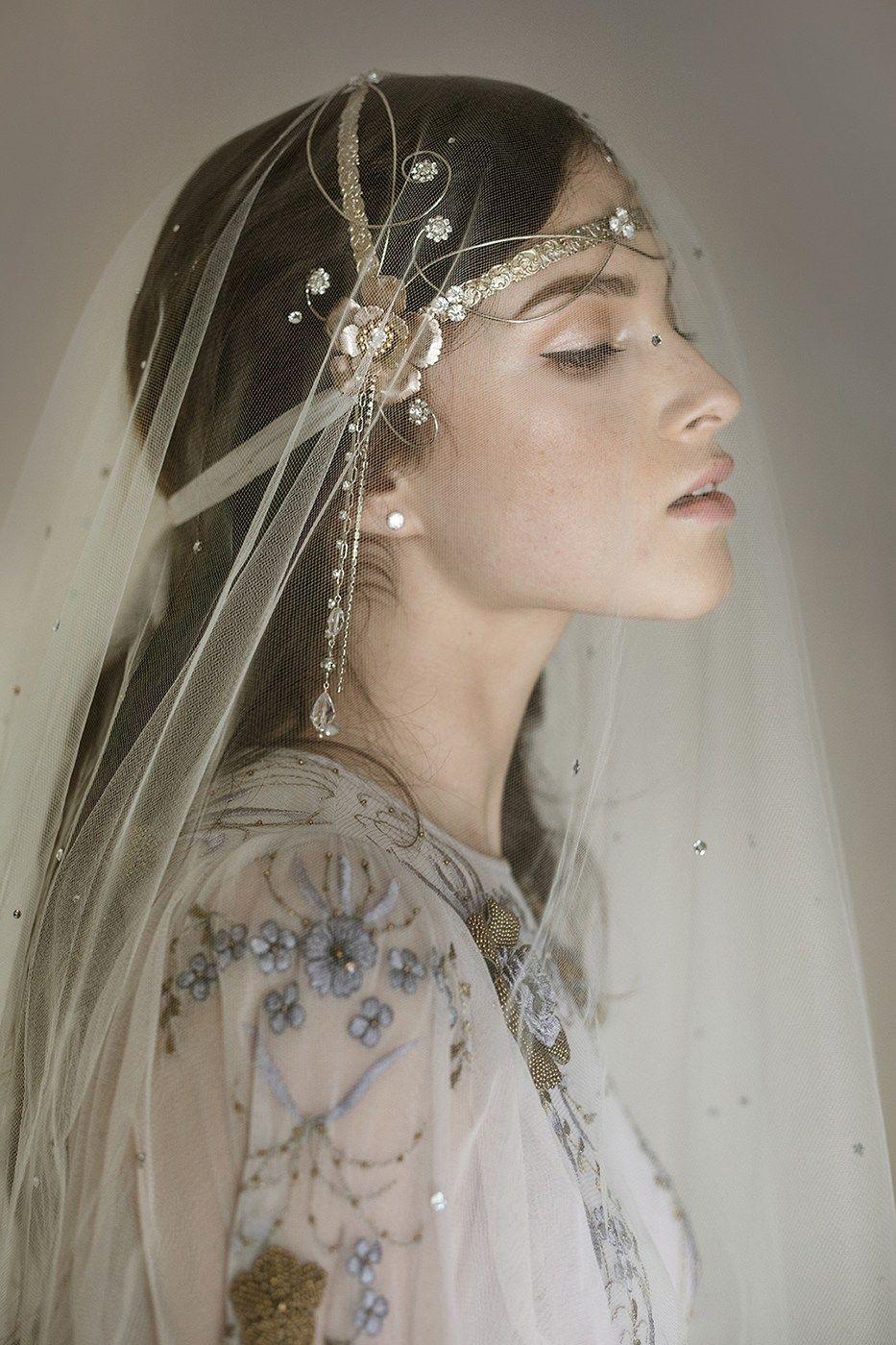 Erica Elizabeth Designs Pure Poetry wedding headdress. A