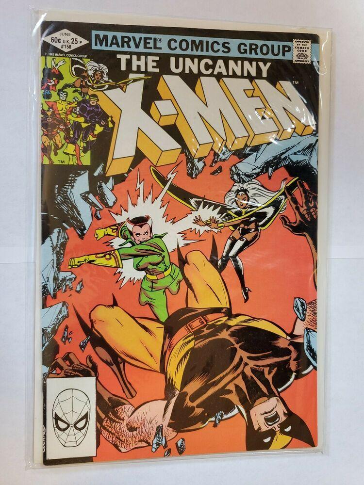 Uncanny X Men 158 Marvel Comic Book Wolverine Storm First Appearance Rogue Marvel Comic Books Comic Books X Men