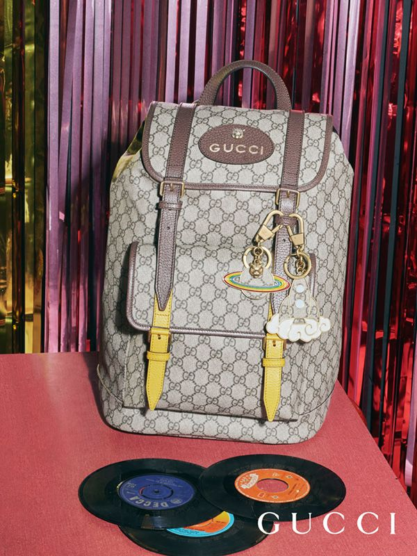 68ea1b434ce92f The GG Supreme backpack from Gucci Pre-Fall 2017, crafted in soft fabric  with brass hardware.
