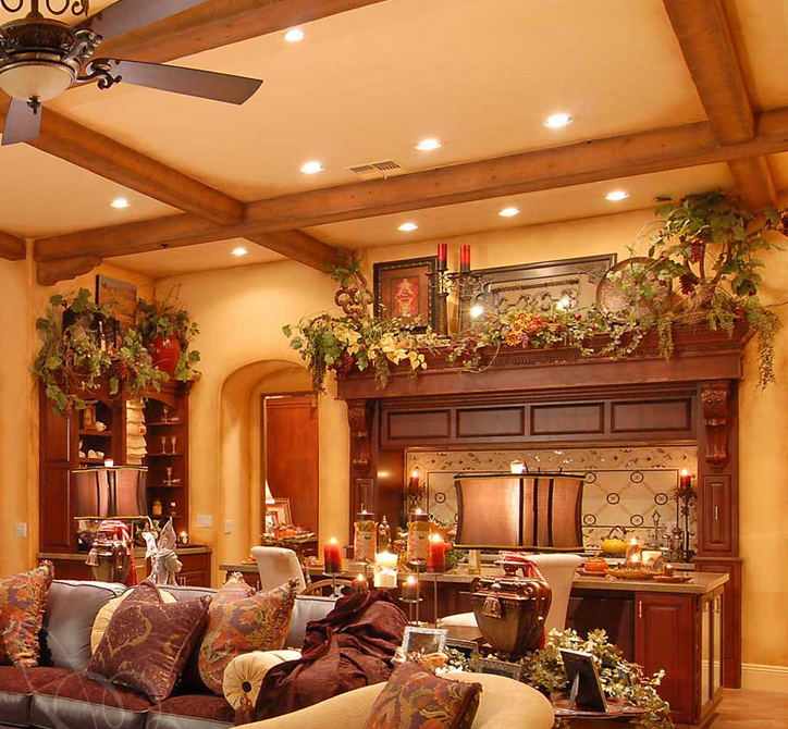 Warm Rustic Living Room Ideas: Tuscan Style..love The Colour Of The Walls. Totally The