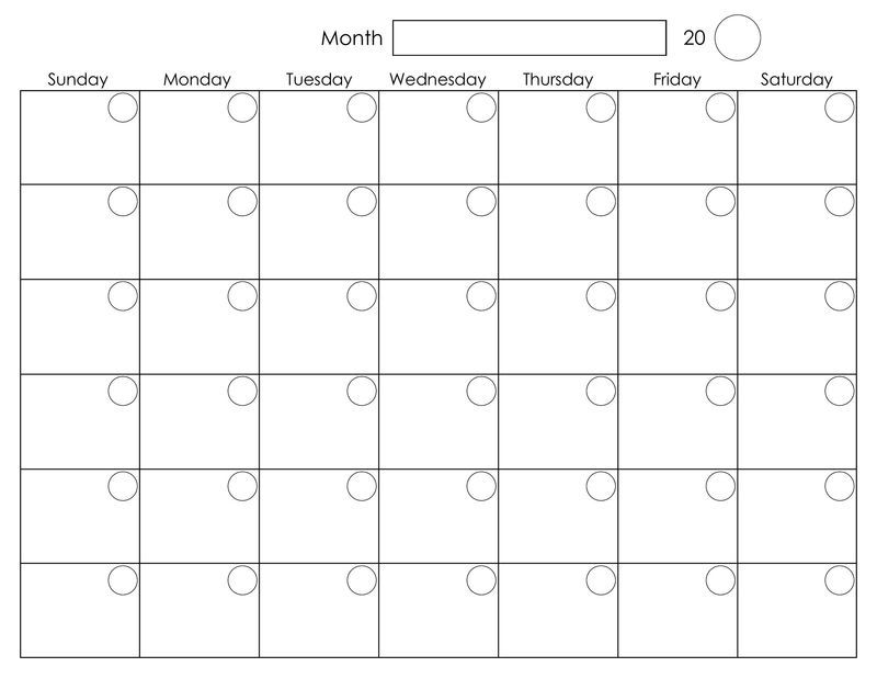 Blank Weekly Calendar For Print Blank Monthly Calendar Free