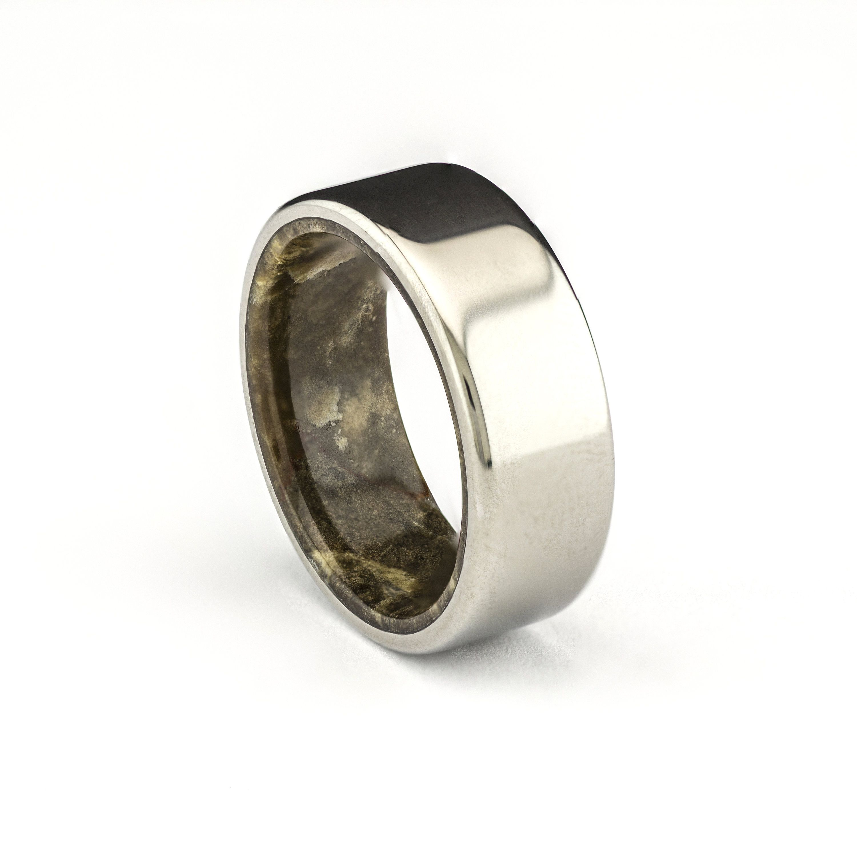 Titanium Ring With Real Natural Marble Men S Ring Etsy Mens Rings Etsy Titanium Wedding Rings Wedding Rings