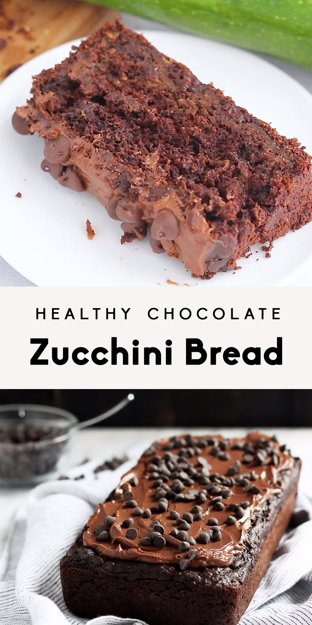 Healthy Double Chocolate Zucchini Bread images