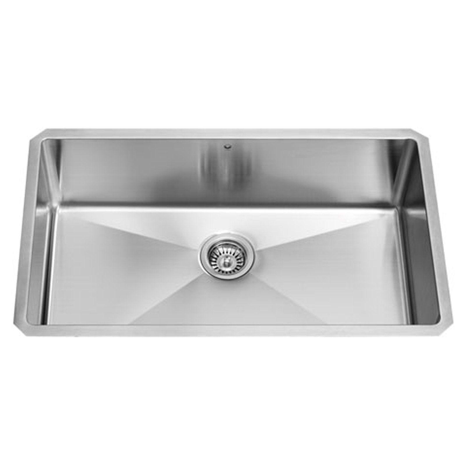 Vigo Vgr3219c Single Bowl Undermount Stainless Steel Kitchen Sink
