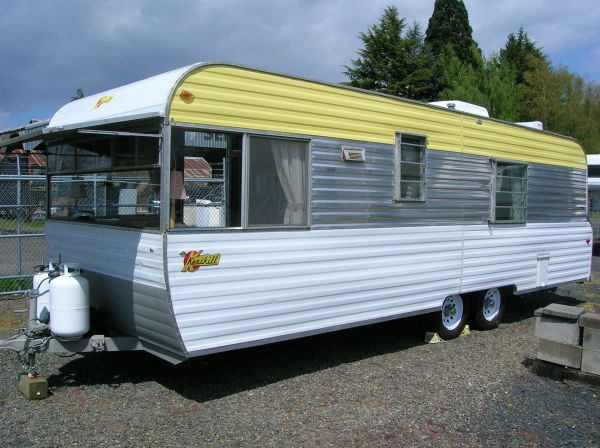 64 Kenskill 25'   Vintage travel trailers, Vintage campers ...