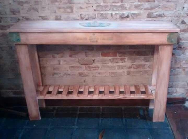 Mesa de arrime en madera de palets a 900 wood wei - Mesas palets madera ...