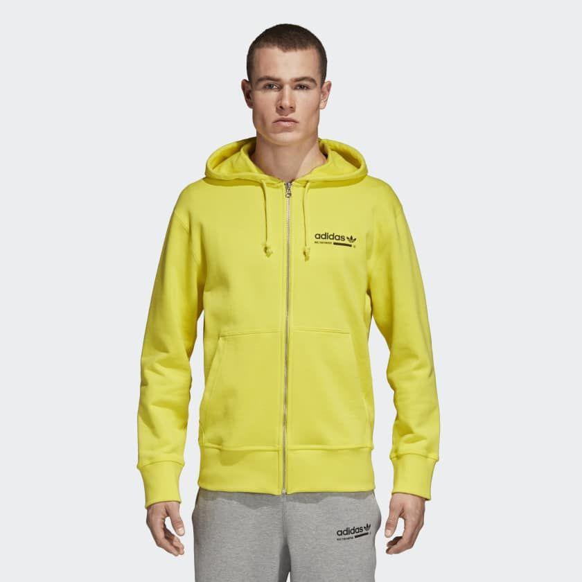 23e6e9dbc9 adidas Kaval Hoodie Shock Yellow DQ1062   Sport Men   Yellow hoodie ...