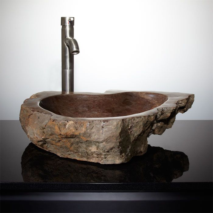 Rexford Petrified Wood Vessel Sink La cueva del Lobo Pinterest - Vessel Sinks Bathroom