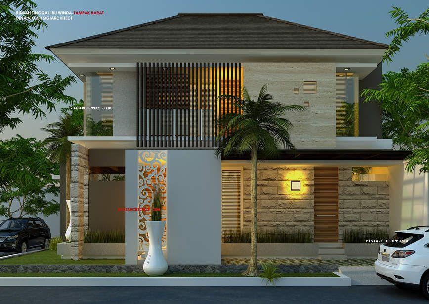 model rumah hook 2 lantai 2 eksterior desain pinterest