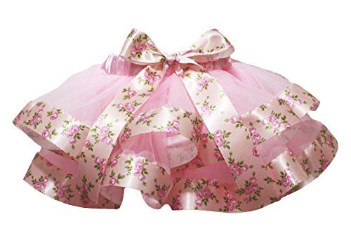 28852ff49 Petitebella Dress Pink 4 Layers Rose Pattern Ribbon Petal Skirt Girl  Clothing Nb-8y