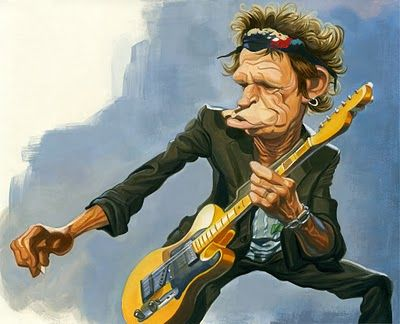 Keith Richards Caricature Keith Richards Funny Caricatures