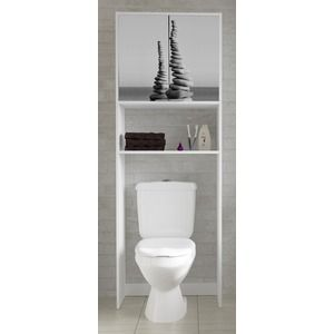 meuble dessus de wc et machine laver 64 x 30 x h 180 cm blanc gris id es wc pinterest. Black Bedroom Furniture Sets. Home Design Ideas