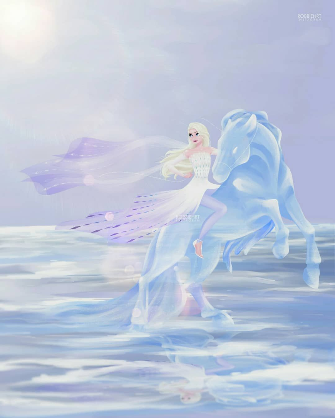 Robbie Hardianto On Instagram Elsa Rides A Nokk Frozen2 Disneyfrozen Dis Disney Princess Drawings Disney Princess Wallpaper Frozen Disney Movie