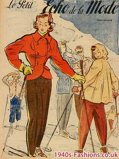 1940s ski fashion - Google Image Result for http://www.1940s ...