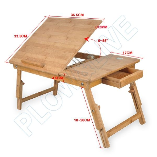 Wooden portable laptop notebook computer desk table bed for Portable wooden house