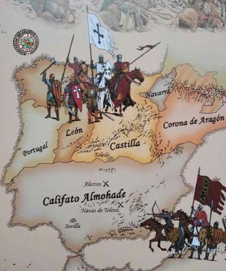 Pin De Aggelos M En Caballeros Templarios Y Medievales Mapa De España Historia De España Historia Española