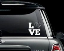 Love Baseball Car Window Decal. Decals made out of outdoor fdc vinyl. They can be placed on your car windows or any other hard surface. by MoreThanGlitz on Etsy