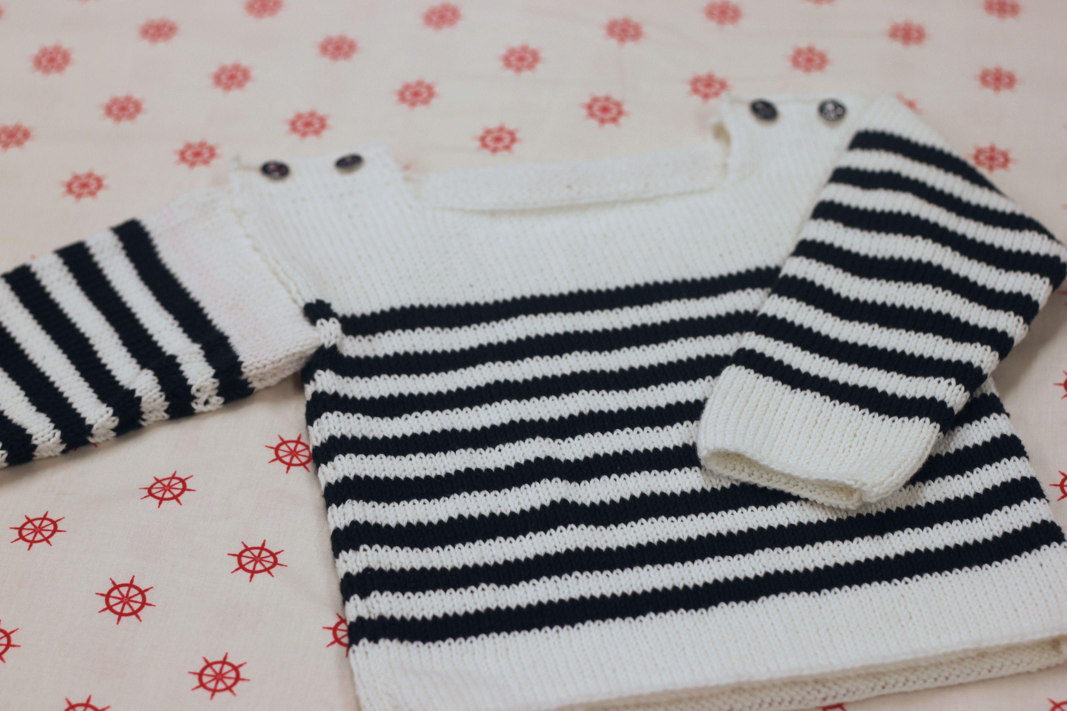 tuto tricot 6 9 mois Pull marin   bébé   Tricot, Tricot crochet et ... 35464df4ccb