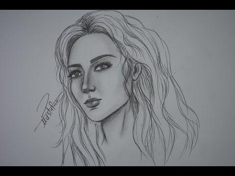 How To Draw By Mustafa Saadi Drawings Female Sketch Artwork