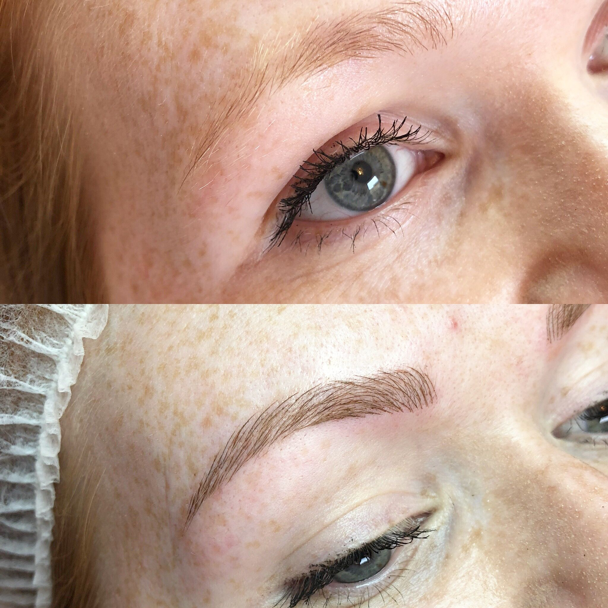 Microbladed brows / digital machine tattooed brows brows