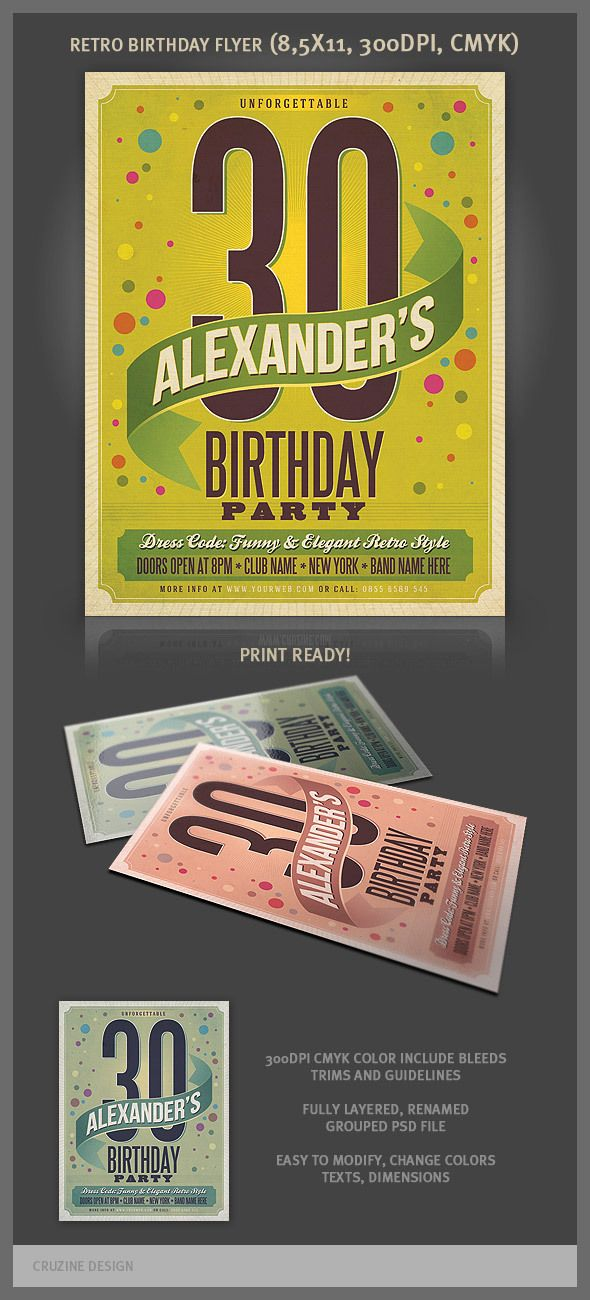 Retro Style Flyer Templates By Peter Olexa Via Behance  Books