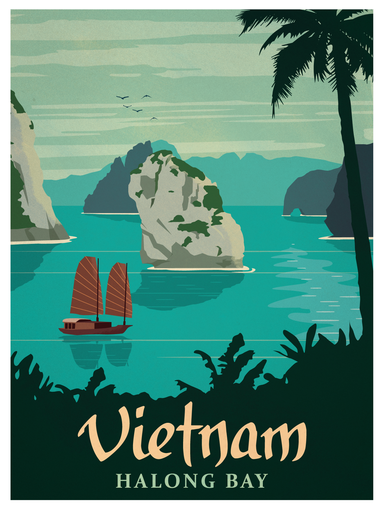 Vintage Vietnam Poster Vintage Travel Posters Retro Travel