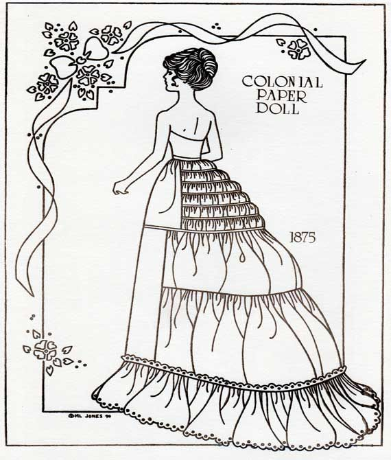 Colonial 1875 Paper Doll Pg.1