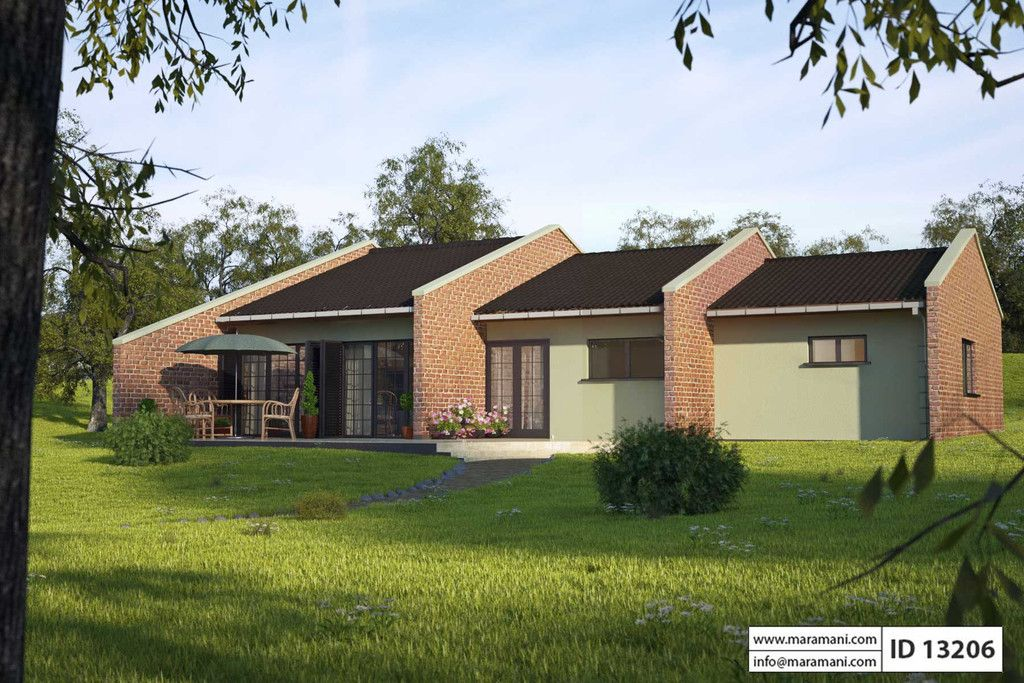House plan id 13206 maramanicom 1 cottage plan for Simple house plan with 1 bedrooms