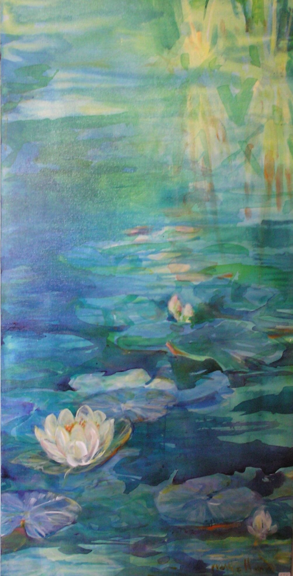 Acrylic Pond painting, Painting, Art
