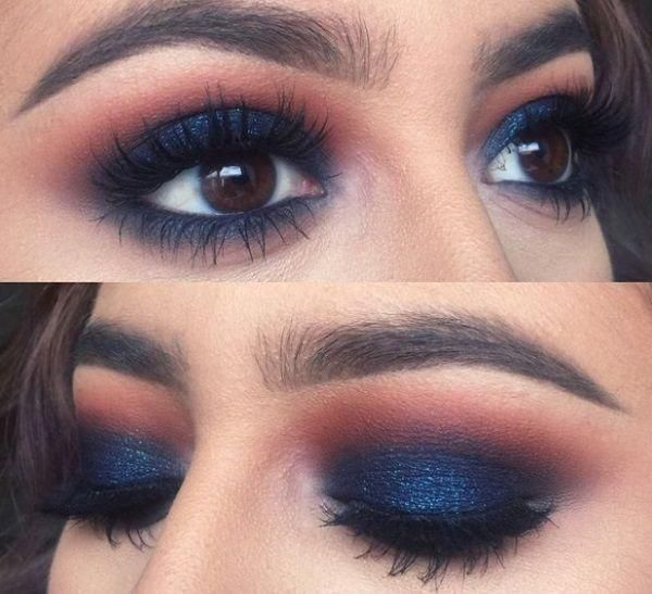 Eye Shadow Colors for Indian Skin blue #eyemakeups