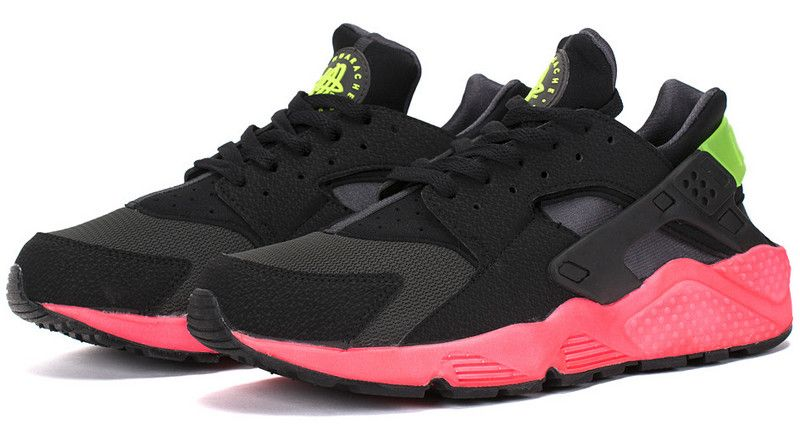 detailed look c8bfb 3637c Nike Air Huarache Hyper Punch Mens Running SHoes Anthracite Black Hyper  Punch Electric Green 318429-006