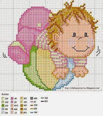**Blog Amor Perfeito** Gráficos de ponto cruz: Bebes