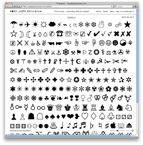 Copy And Paste Character Symbols Clipart Library