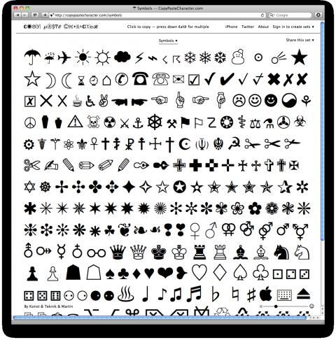 Copy Paste Character Copy paste symbols, Character