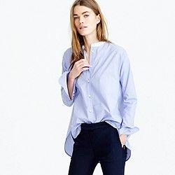 Thomas Mason® for J.Crew collarless shirt | Cosas para ponerme ...