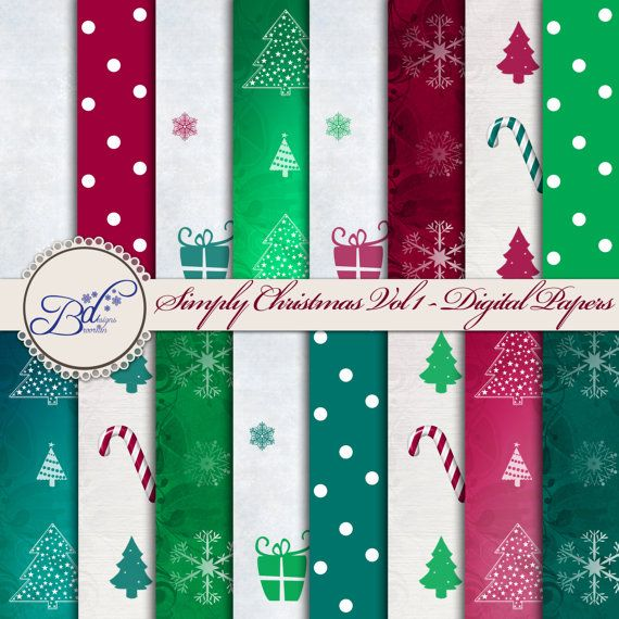 Christmas themed printable digital scrapbook pages for Themed printer paper