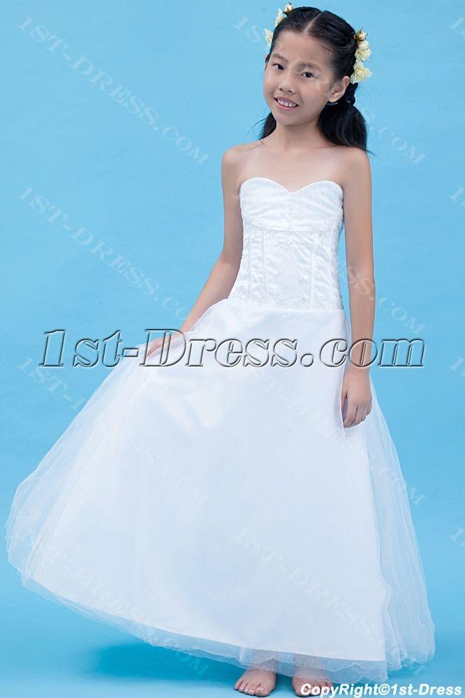 Gorgeous Long Mini Wedding Dress for Kids:1st-dress.com | Mini ...