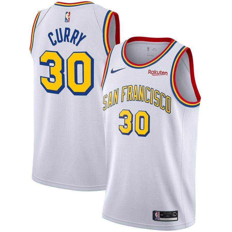Men S Nike Stephen Curry White Golden State Warriors Hardwood Classics Swingman Badge Jersey San Francisco Classic Edition Golden State Warriors Golden State Nike Men