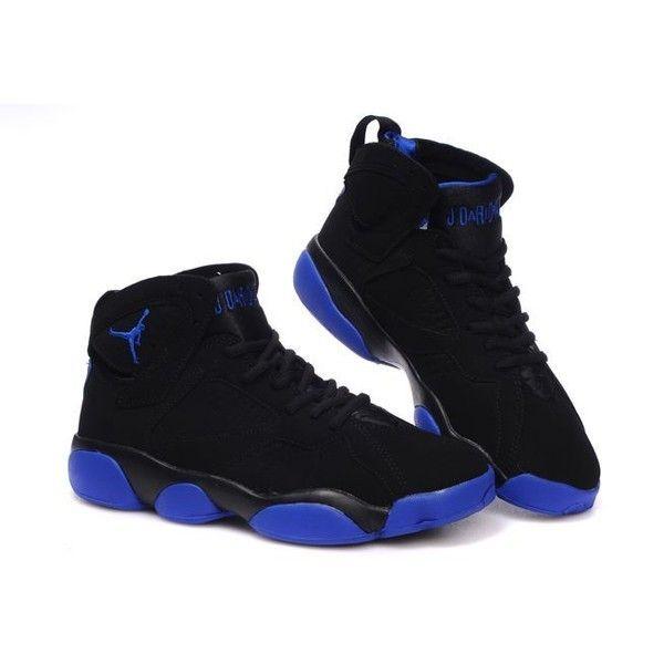 c29b47a2c1f697 Air Jordan 13 Jordan 7 black blue ❤ liked on Polyvore featuring shoes