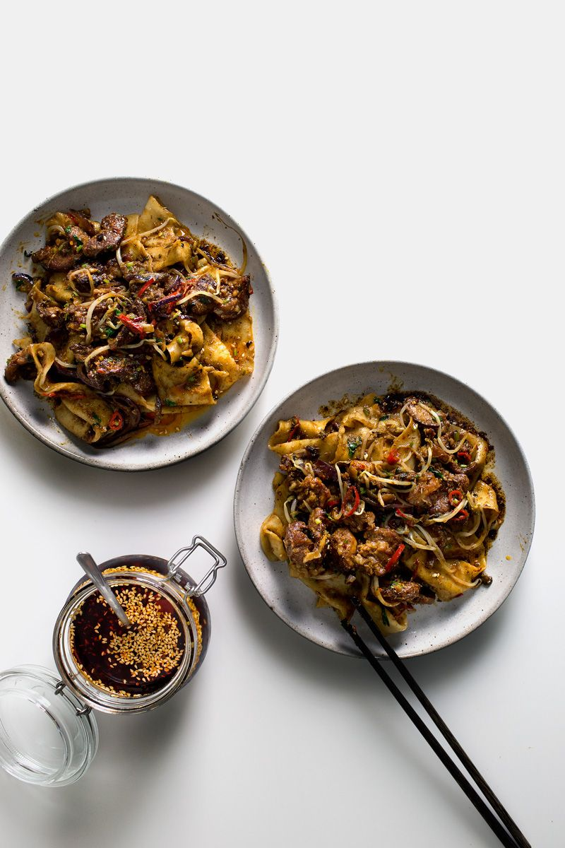 My xian famous spicy cumin lamb hand smashed noodles cumin lamb recipe to recreate xian famous foods spicy cumin lamb hand smashed noodles forumfinder Image collections