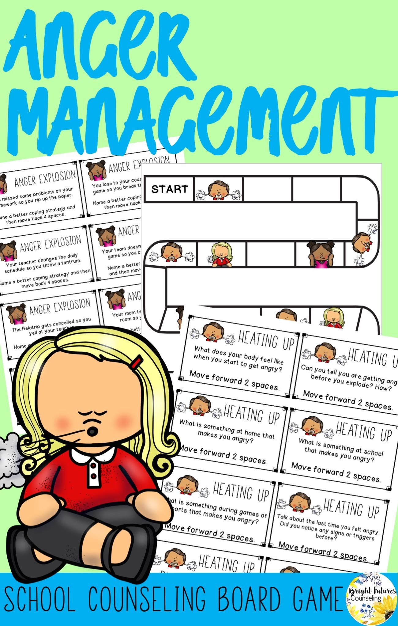 Anger Management Board Game School Counseling Game