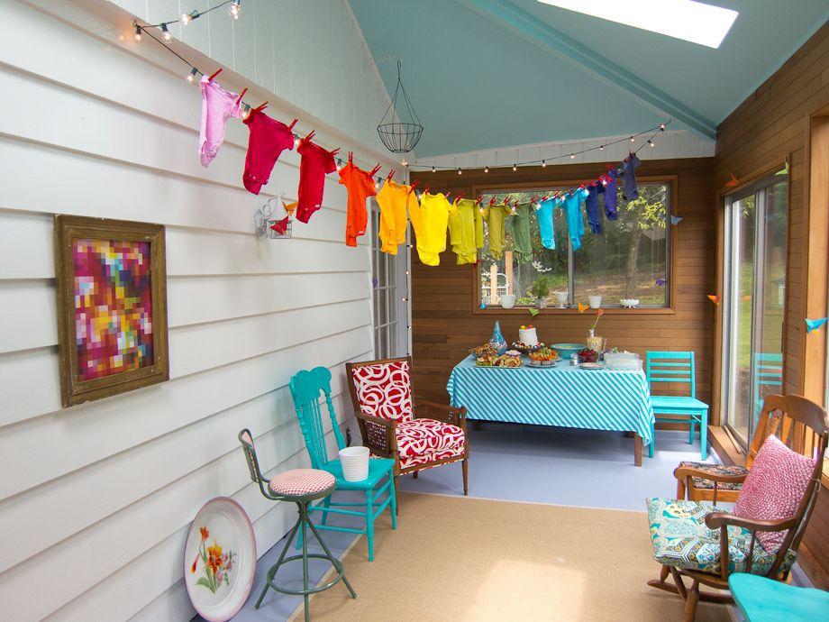Rainbow baby shower - love the onesies!   Rainbow baby ...